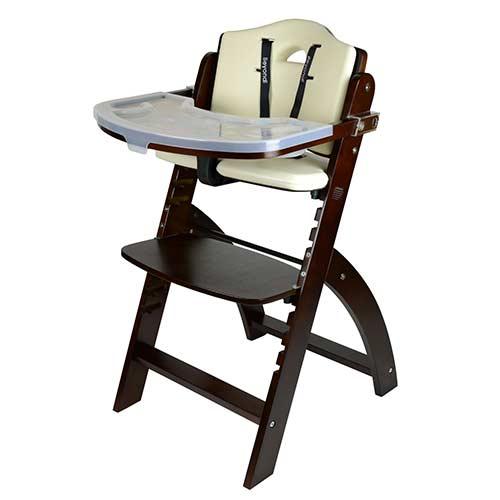 6. Abiie Beyond Wooden High Chair With Tray