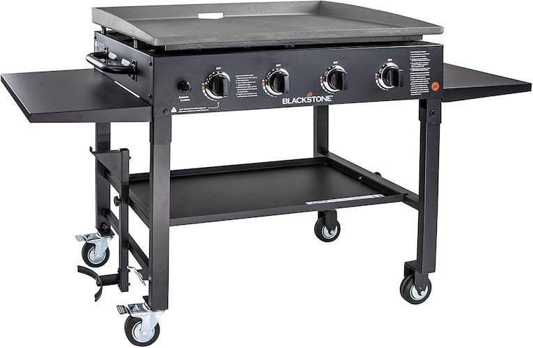 1. Blackstone 1554 Station-4-burner-Propane Fueled-Restaurant Grade-Professional 36 inch Outdoor Flat Top Gas Grill Griddle Station