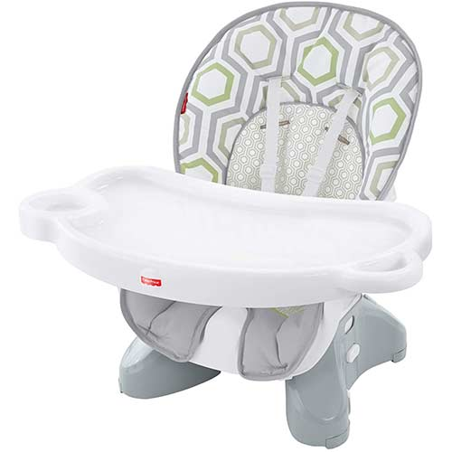 2. Fisher-Price SpaceSaver High Chair, Geo Meadow