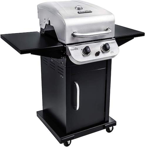 9. Char-Broil Performance 300 2-Burner Cabinet Liquid Propane Gas Grill- Stainless steel
