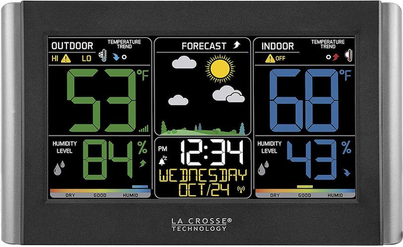 2. La Crosse Technology C85845 Color Wireless Forecast Station