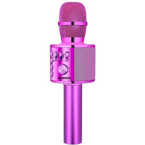 2. BONAOK Wireless Bluetooth Karaoke Microphone,3-in-1 Portable Handheld karaoke Mic Speaker Machine