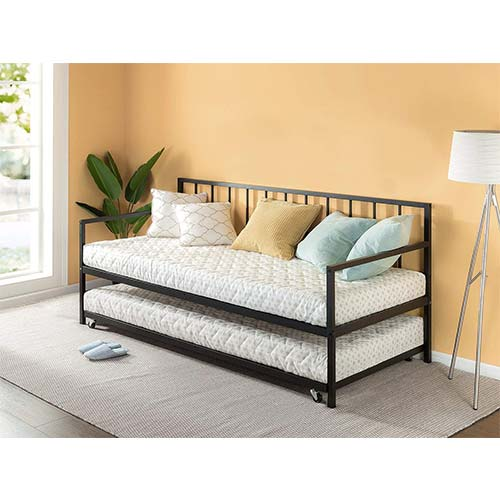 3. Zinus Eden Twin Daybed and Trundle Set