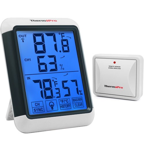 8. ThermoPro TP65A Indoor Outdoor Thermometer Digital Wireless Hygrometer Temperature and Humidity Monitor