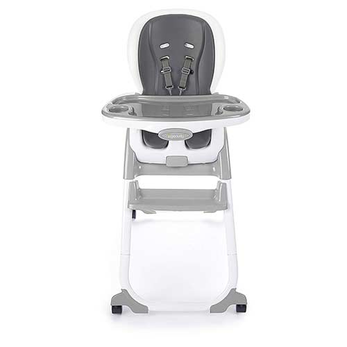 4. Ingenuity SmartClean Trio Elite 3-in-1 High Chair - Slate - High Chair, Toddler Chair