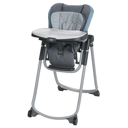 1. Graco Slim Spaces High Chair | Compact High Chair, Alden