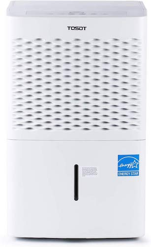 1. TOSOT Energy Star Dehumidifier with Pump for Rooms up to 4,500 Sq. Ft Quiet, Portable with Wheels, and Continuous Drain Hose Outlet-Efficiently Removes Moistures for Home, Basement, Bedroom, White