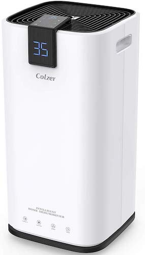 8. COLZER 70 Pints Dehumidifiers for Home Basements, Bathroom and Large Room up to 4,000 sq ft, Large Capacity Compact Dehumidifier with 7.4 Pints-Water Bucket & Continuous Drain Hose for Self-draining