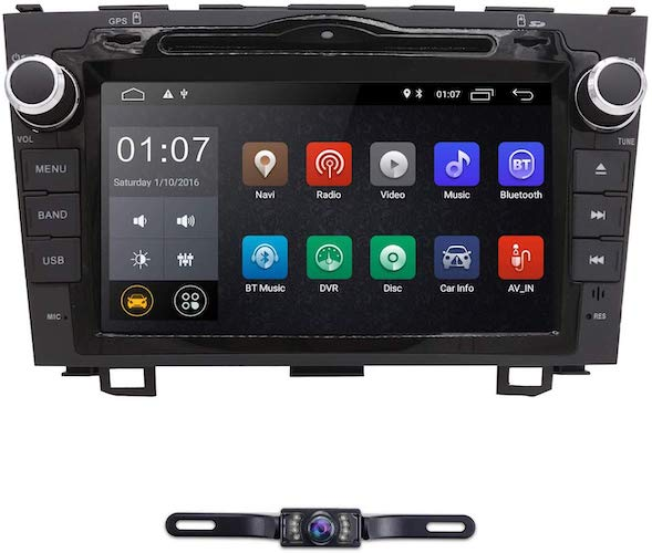 2. hizpo Android 9.0 8 Inch Double Din Car Radio Stereo DVD Player