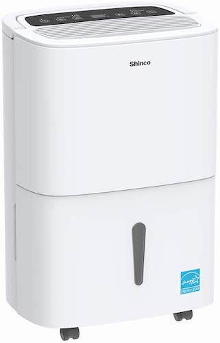 7. SHINCO 70 Pint Dehumidifier with Built-in Pump, Energy Star, for Large Spaces, for Basements, Cellar, Garage, Bathroom, for Spaces Up to 5000 Sq Ft, Effectively Remove Moisture and Control Humidity