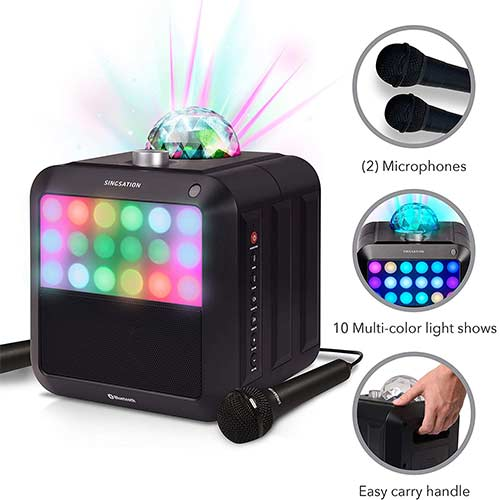 5. Portable Karaoke Machine - Singsation Star Burst - System