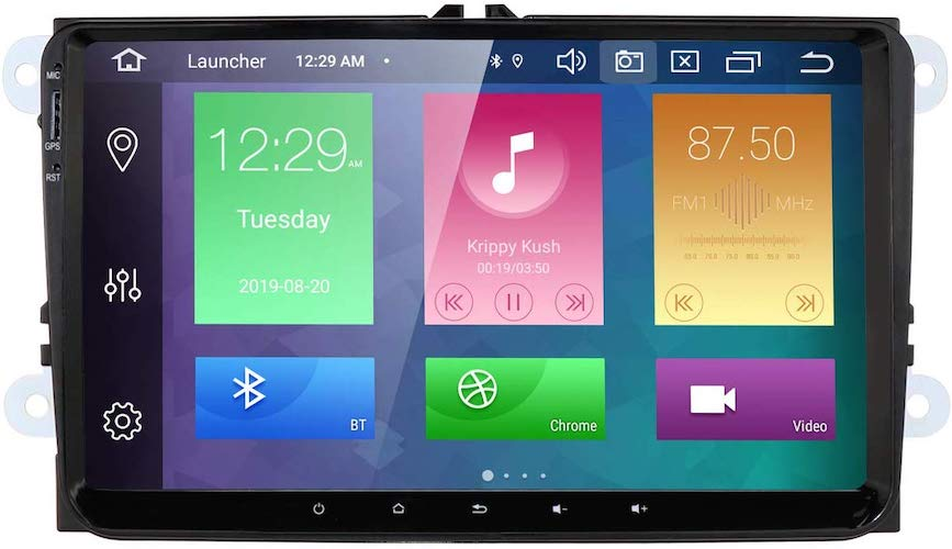 3. hizpo 9 Inch Android 9.0 Car Stereo Radio Video Player