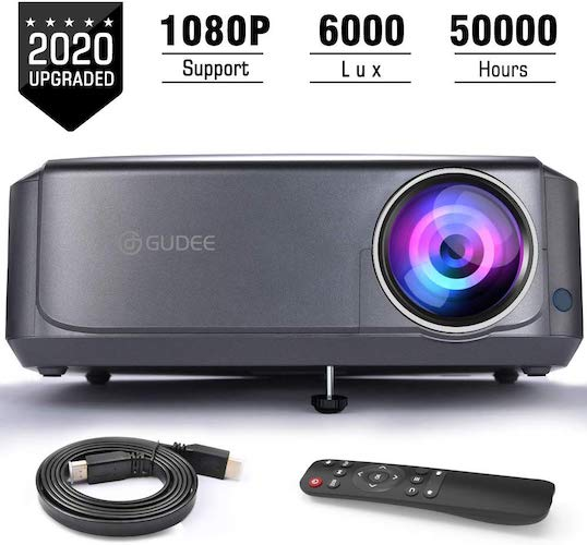 3. Video Projectors (Upgraded), GuDee Full HD Movie Projector