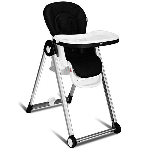 8. INFANS Folding High Chair for Babies &Toddlers