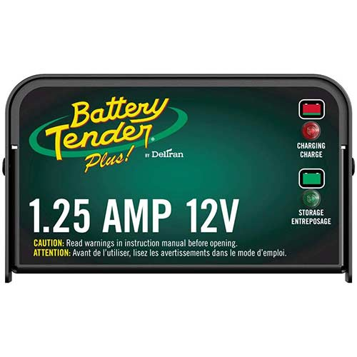 3. Battery Tender Plus 12V, 1.25A Battery Charger