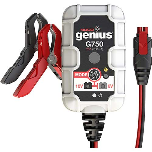 9. NOCO Genius G750 6V/12V .75 Amp Battery Charger and Maintainer