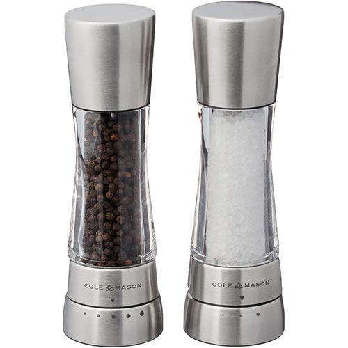 7. COLE & MASON Derwent Salt and Pepper Grinder Set