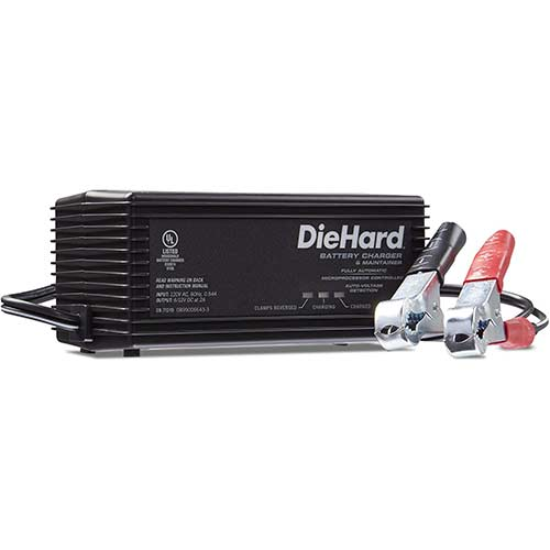 2. DieHard 71219 6/12V Shelf Smart Battery Charger and 2A Maintainer