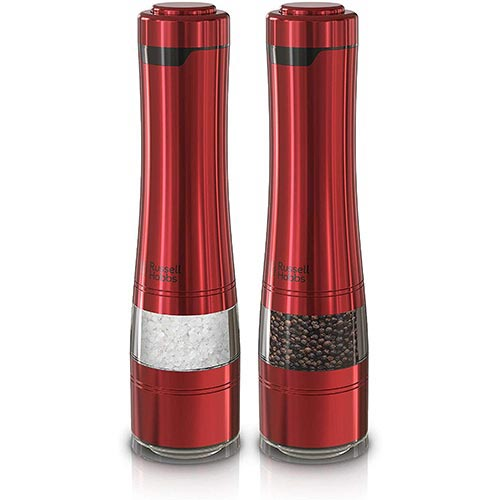 5. Russell Hobbs RHPK4100RED Electric Salt and Pepper Mill Set