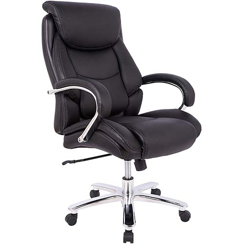 5. AmazonBasics Big & Tall Executive Office Desk Chair