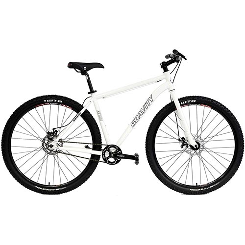 1. Gravity G29 SS 29er Single Speed Mountain Bike + Rigid Fork Disc Brakes