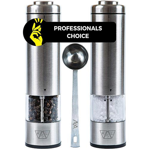 4. KSL Electric Salt and Pepper Grinder Set