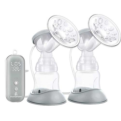 5. Double Electric Breast Pumps, Opoway Portable Breast Pump Rechargeable Breastfeeding Pump