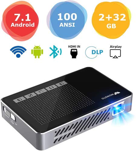 3. Mini Projector WOWOTO A5 Pro Android 7.1 100ANSI 2+32G Portable DLP Video Projector