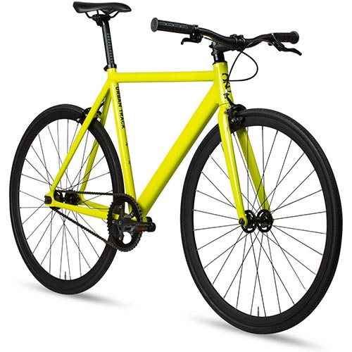 4. 6KU Aluminum Fixed Gear Single-Speed Fixie Urban Track Bike