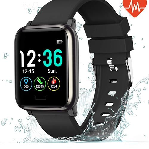10. L8star Fitness Tracker Heart Rate Monitor-1.3'' Large Color Screen IP67 Waterproof Activity Tracker