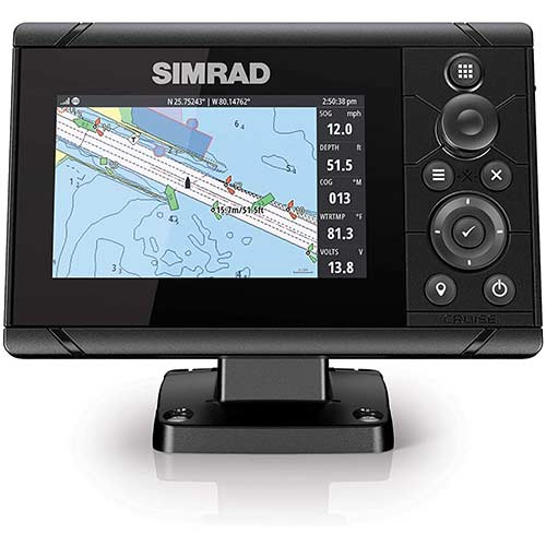 6. Simrad Cruise-5 Chart Plotter with a 5-inch Screen and US Coastal Maps Installed