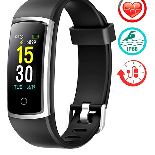 3. FITFORT Fitness Tracker with Blood Pressure HR Monitor