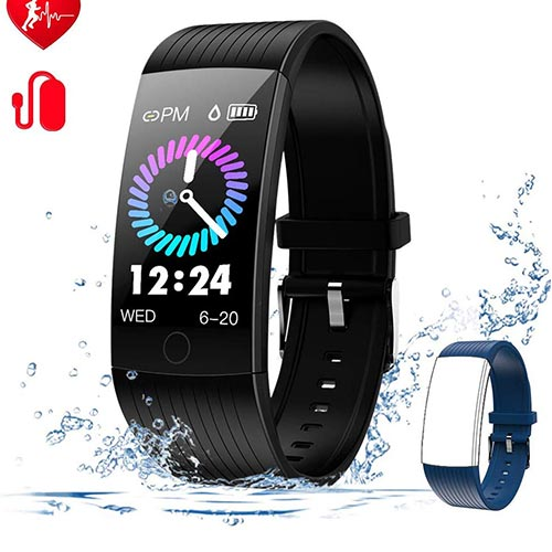 6. WELTEAYO Fitness Tracker with Heart Rate Monitor Fitness Watch Activity Tracker