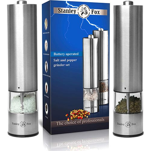 8. Electric salt and pepper grinder set - Salt and Pepper shakers