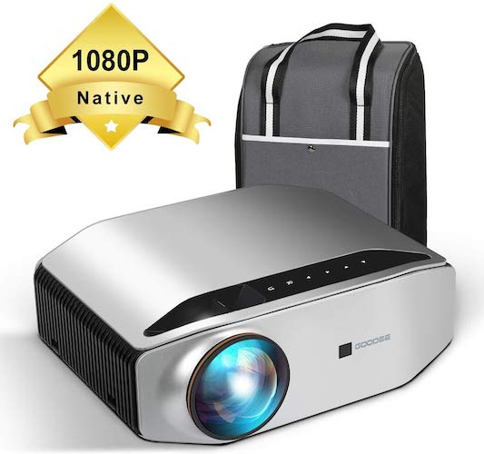 4. Native 1080p Projector - GooDee YG620 Newest LED Video Projector