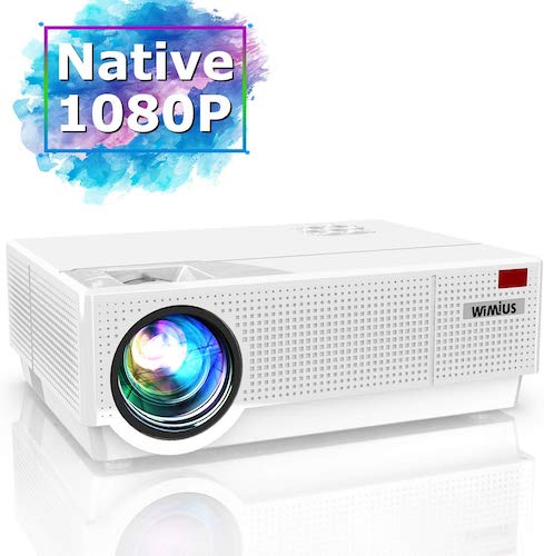 2. Projector, WiMiUS Newest P28 6800 Lumens LED Projector Native 1920x1080 Video Projector