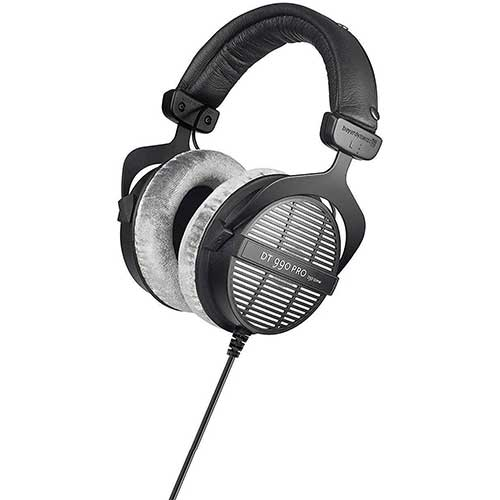 5. beyerdynamic DT 990 Pro 250 ohm Headphones, Gray, (459038)