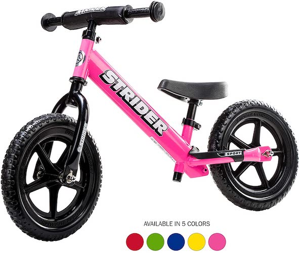 10. Strider - 12 Sport Balance Bike, Ages 18 Months to 5 Years