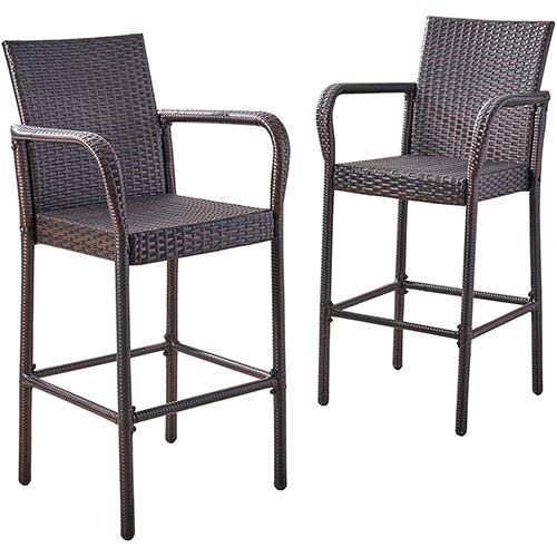 4. Christopher Knight Home Stewart Outdoor Bar Stool
