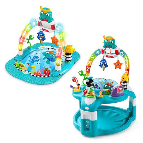7. Baby Einstein 2-in-1 Lights & Sea Activity Gym & Saucer