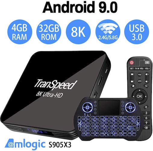 4. Android TV Box 9.0 Amlogic S905X3 2.4G 5.8G Dual Band WiFi 4GB 32G Bluetooth 4.1