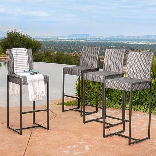 5. Conrad Patio Furniture ~ Outdoor Bar Stools