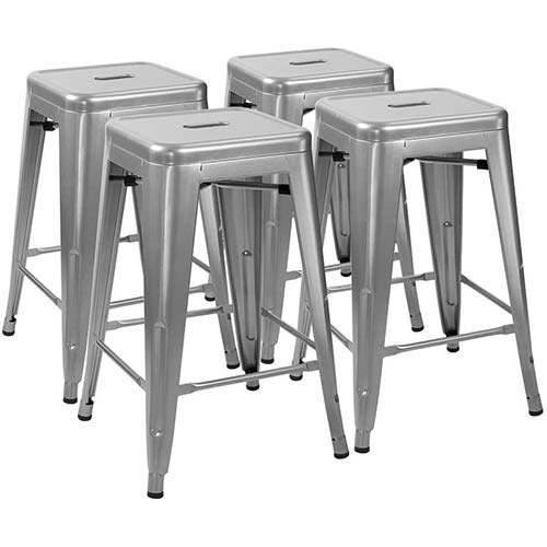 8. Furmax 24 Inches Metal Bar Stools