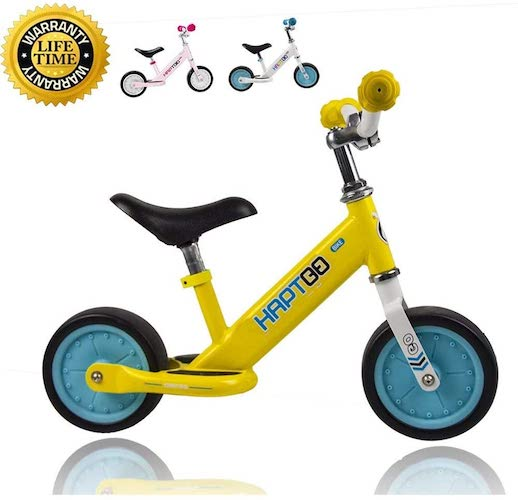 7. HAPTOO 7 in & 12 in Sport Balance Bike, Ages 12 Months to 5 Years