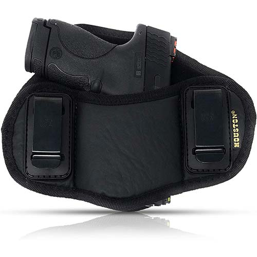 8. Tactical Pancake Gun Holster Houston - ECO Leather Concealed Carry Soft Material