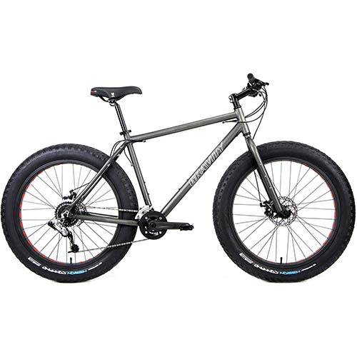 4. Aluminum Fat Bikes with Powerful Disc Brakes Gravity Monster Mens Fat Tire Bicycle