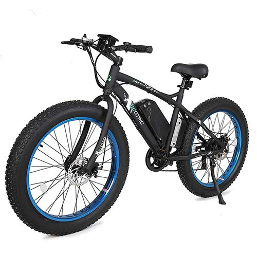 5. ECOTRIC Fat Tire Electric Bike Beach Snow Bicycle 26