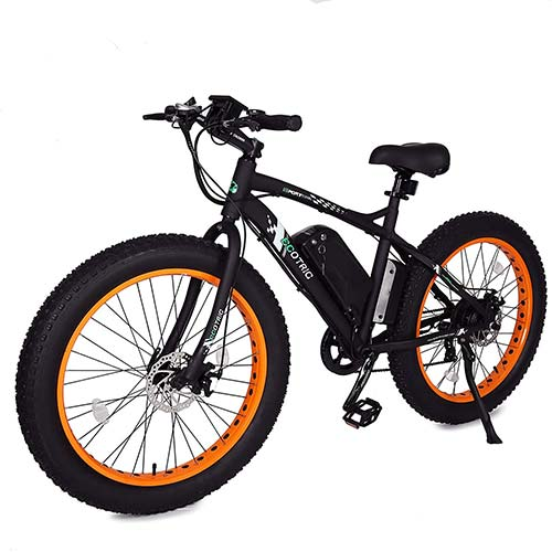 1. ECOTRIC Fat Tire Electric Bike Beach Snow Bicycle 26