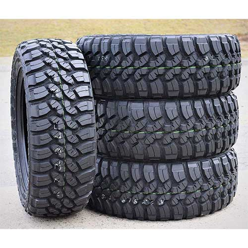 6. Set of 4 (FOUR) Forceum M/T 08 Plus Mud-Terrain Radial Tires-LT235/75R15 104/101Q LRC 6-Ply