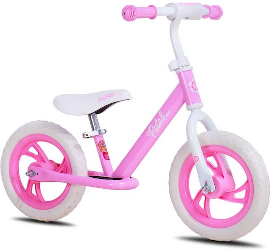 8. JOYSTAR 12/14 Inch Lightweight Balance Bike for 2 3 4 5 6 Years Old Toddlers, Kids, Glider Bike with Footrest and Handlebar Pads